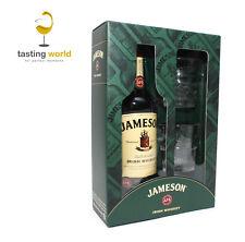 GESCHENKSET: Jameson Irish Whiskey mit 2 Gläsern / Tumbler 40% 0,7l Whisky
