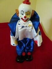 "CIRCUS CLOWN FIGURE With Porcelain Head, Hand and Fee-Decorative Figure-12"" Tall"