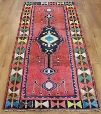 Traditional Vintage Wool 192cmX78cm Oriental Rug Handmade Carpet Rugs