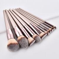10pcs Pro Makeup Brushes Set Foundation Powder Blush Eyeshadow Lip Brush Tools