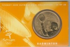 Coin Australia 2000 Olympic Games Sydney $5 proof issue Badminton small folder