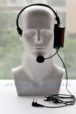 New! Red Single-Earphone Headset Boom Mic for Kenwood Wouxun Baofeng 2-Pin Radio