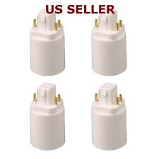 4PCS E-simpo Gx24q to E27/E26 LED Light Bulb Lamp Adapter Socket Converter Holde