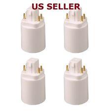 4PCS E-simpo Gx24q to E27/E26 LED Light Bulb Lamp Adapter Socket Converter Holde