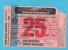 Orig.Ticket    EC 2    1989/90   BORUSSIA DORTMUND - SAMPDORIA GENUA  1/8 FINALE