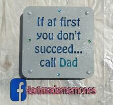 Daddy Dad Fathers Day Plaque Wooden Keepsake Block Gift
