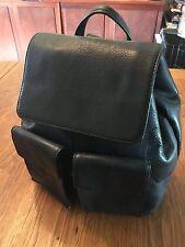 Designer HOBO INTERNATIONAL Black LEATHER BACKPACK Shoulder BAG Handbag Tote
