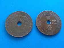 2X Pièces de Monnaie Indochine 1 cent 1903 / Coins