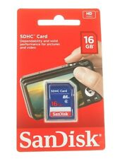 16GB schede SDHC SANDISK scheda SD per telecamere o FOTO ORIG. NUOVO