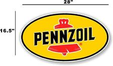 """(PENN-2) 28"""" PENNZOIL OIL LUBSTER front DECAL GAS PUMP SIGN GASOLINE"""