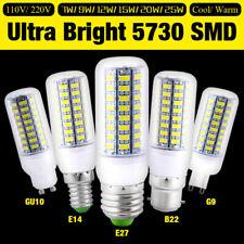 E27 E14 GU10 G9 B22 LED luces de las lámparas de ahorro de energía Bombilla 5730 SMD 110V/220V maíz