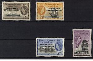 FALKLAND ISLANDS DEPENDENCIES 1956 TRANS-ANTARCTIC EXPEDITION  MNH