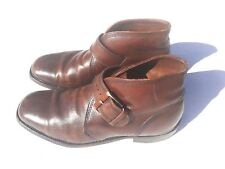 GOOD YEAR NEOLITE Size 8.5M Brown Distressed Leather Buckle Strap Ankle Boots