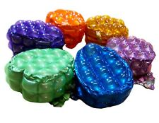 KIDS PVC INFLATABLE BUBBLE SMALL BACK PACKS -BLUE-ORANGE-GOLD-PURPLE -LIME -NEW