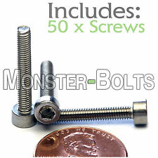 M3 x 20mm - Qty 50 - DIN 912 Socket Head Caps Screws - Stainless Steel A2 / 18-8