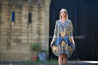 Kaftans Embellished Kimono Sleeves Cruise Wear Luxe Premium Designer Silk SV1024