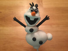 Custom Edible Fondant Olaf Frozen Disney Cake Handmade Toppers Decoration 3D