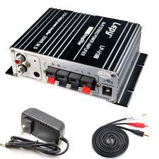 2V 700W Mini Hi-Fi Stereo Digital Car Home Amplifier Mp3 Home+Power+Audio Cable