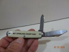 Vintage Mt. Mount Sterling Court Days Kentucky 2 Blade Pocket Knife USA