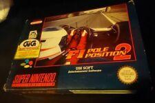 F1 Pole Position 2-GIG ITA-BOXED SUPER NINTENDO PAL-OTTIME CONDIZIONI COMPLETO