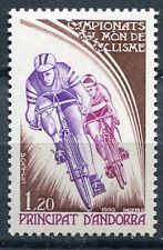 TIMBRE ANDORRE FRANCE NEUF  N° 288  *  SPORT VELO CYCLISME PHASE DE COURSE