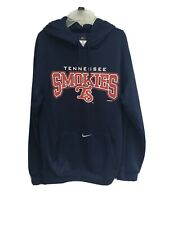 Tennessee Smokies Hoodie Fleece-Lined Sweatshirt Med Navy Blue Nike Therma-Fit