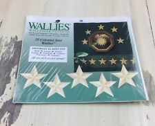 Wallies Wallpaper Cutouts- 25 Celestial stars- Pre Pasted Vinyl Coated! Cool!