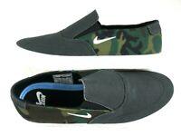 Nike Mens SB Portmore II SLR Slip On Canvas Skate Shoes Black Camo Size 9.5 New