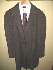 Harris Tweed Men's Brown Speckled Pure Scottish Wool Over Coat Suit Jacket 40 R