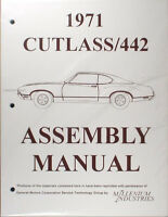 1971 Olds Cutlass Factory Assembly Manual 442 Supreme F85 S 71 Oldsmobile