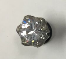 6mm Plug with Clear Crystal Stone