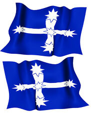 EUREKA FLAG DECAL  left and right facing   SIZE 80 MM BY 51 MM NED KELLY