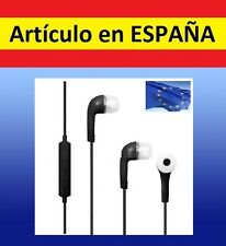 AURICULARES NEGROS oido ear 3,5mm cascos iphone microfono smartphone samsung mic