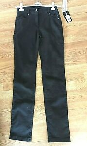 Robell Elena Brown Embroidered Pocket Shaping Skinny Stretch Jeans Sz8 BNWT