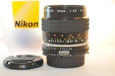 Nikon Micro Nikkor 55mm f/2.8 AI-S primo obiettivo macro bello per FM2n FA FE F3 HP F5