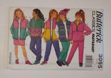 Butterick 3095 Size 7-14 Girls' Jacket Vest Skirt Pants