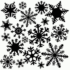 SNOWFLAKES STENCIL FLURRY STENCILS BIG TEMPLATE CRAFT PAINT PATTERN NEW BY TCW