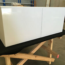 kitchen cabinets 800mm fridge overhead with 2 pak glossy door