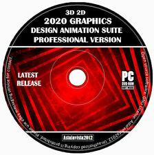 3D 2D Pro Graphics Design Animation Modelling Enhancement Studio PC Software