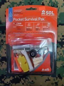 SOL POCKET SURVIVAL PAK OUTDOOR SURVIVALIST KIT CAMPING HIKING EMERGENCY