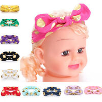 Babys'Toddler Girl Kids Turban Knot Rabbit Headband Bow Cotton Hairband Headwear
