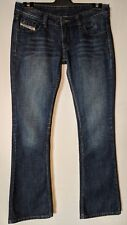 "WOMEN'S JEANS DIESEL BOOTCUT MADE IN ITALY COTTON SIZE 12 LEG 33"" FREE POSTAGE"