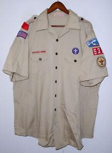 BOY SCOUTS Of America Insignia Uniform Shirt BSA #531 Scout USA Adult Mens : 2XL