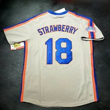 Darryl Strawberry New York Mets Jersey 1986 World Series Throwback NEW With Tags