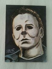 HALLOWEEN MICHAEL MYERS  SKETCH ART TRADING CARD PSC ACEO BY MARK SPEARS