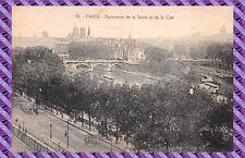 Cartolina - Parigi - Panorama la senna e di La cité