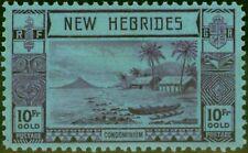 More details for new hebrides 1938 10f violet-blue sg63 good mnh