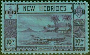 New Hebrides 1938 10F Violet-Blue SG63 Good MNH