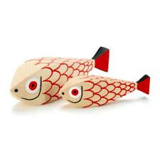 Vitra Complemento D'arredo Wooden Dolls Mother Fish & Child abete dipinto a mano