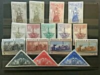 Spain stamps, 1930, Columbus series. Edifil # 531/546, Post stamps with ships